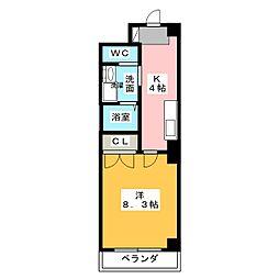 一色館[4階]の間取り