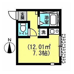 サンビレッジ川崎[3階]の間取り