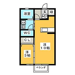 D'grance三塚[2階]の間取り