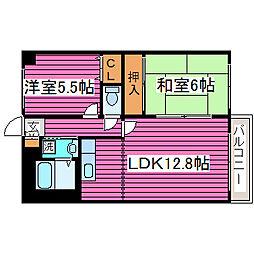 北海道札幌市東区北三十九条東9丁目の賃貸マンションの間取り