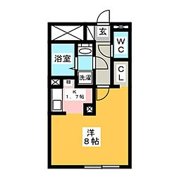 LUORE名駅 4階1Kの間取り
