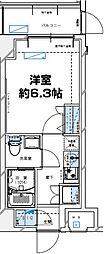 レジデンツア西神奈川[101号室]の間取り