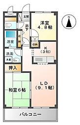 千葉県市原市ちはら台東9丁目の賃貸アパートの間取り