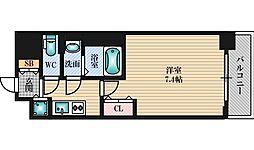 Luxe新大阪5 6階1Kの間取り