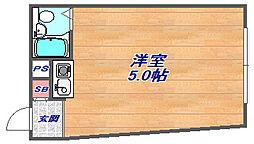 兵庫県神戸市灘区高羽町3丁目の賃貸アパートの間取り