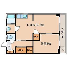 静岡県静岡市葵区瀬名中央2丁目の賃貸マンションの間取り