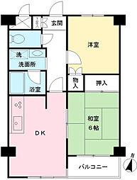 京王むさしのマンション[2階]の間取り
