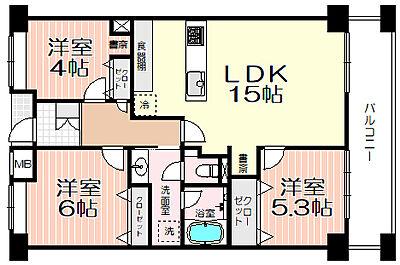 専有面積73.57?・3LDK 9階部分・眺望・日当たり良好ペデストリアンデッキ接続マンション駅から徒歩1分