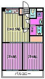プレステージ富士[303号室]の間取り