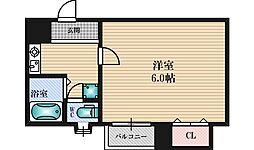 大建ハイツ三国1[3階]の間取り