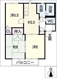 ワルトハイムA棟[2階]の間取り