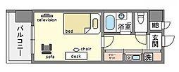 家具・家電付きピュアドームエスパルシア博多[3階]の間取り