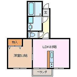 WOOD久松[1階]の間取り