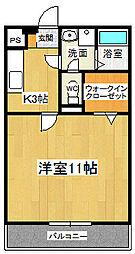 ドミール参番館1[1-B号室]の間取り