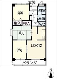 グローハイム[2階]の間取り