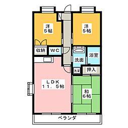 ピュア旭ヶ丘[5階]の間取り