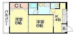 ラフィネ21[2階]の間取り