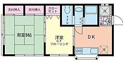 中野貸室[2階]の間取り