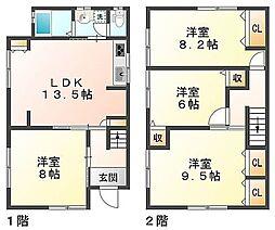 [一戸建] 兵庫県神戸市垂水区海岸通 の賃貸【/】の間取り