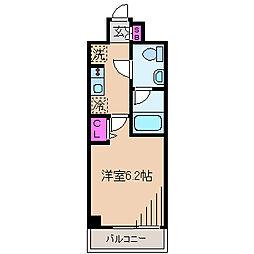 東急東横線 元住吉駅 徒歩9分の賃貸マンション 3階1Kの間取り