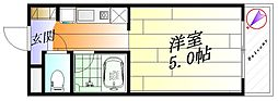 メゾンクラーラ[2階]の間取り