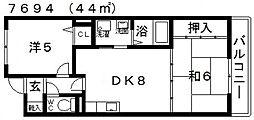 井関マンション[205号室号室]の間取り