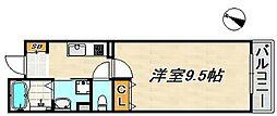 ワコーレヴィアーノ須磨千守町 1階1Kの間取り