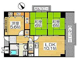 ポルト堺II[11階]の間取り