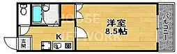 Avenue高辻(アベニュー高辻)[602号室号室]の間取り