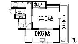 [一戸建] 兵庫県川西市寺畑1丁目 の賃貸【/】の間取り