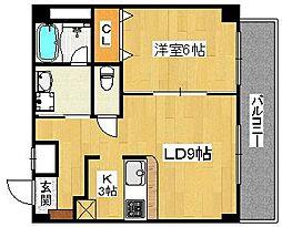 シティーコート熊野町[3階]の間取り