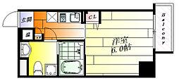 u-ro昭和南通 3階1Kの間取り