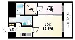 Osaka Metro御堂筋線 江坂駅 徒歩5分の賃貸マンション 3階1LDKの間取り