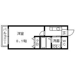 ティーガー新和町[101号室]の間取り