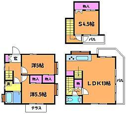 [一戸建] 東京都調布市布田5丁目 の賃貸【/】の間取り