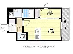 福岡市地下鉄空港線 大濠公園駅 徒歩7分の賃貸マンション 11階1LDKの間取り