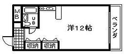 ユウパレス泉佐野 中町[302号室]の間取り