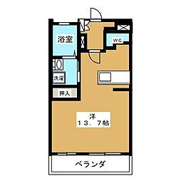 ミュゼ草薙[3階]の間取り