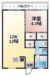 橋本第一綜合ビル[4階]の間取り