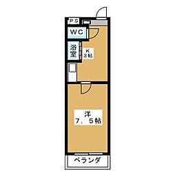 アイルーム築地[1階]の間取り