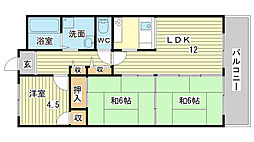 CALMO姫路東[402号室]の間取り