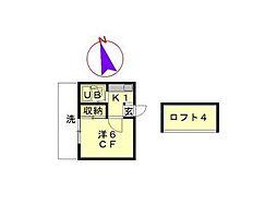千葉県柏市常盤台の賃貸アパートの間取り