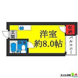 パークサイド矢田[2階]の間取り