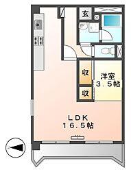 愛知県名古屋市中村区十王町の賃貸マンションの間取り