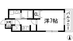 兵庫県川西市東久代2丁目の賃貸アパートの間取り
