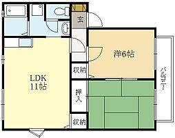 楽々荘[2階]の間取り