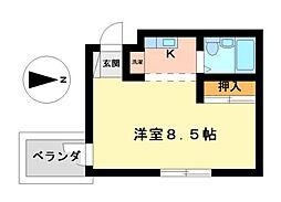 愛知県名古屋市瑞穂区妙音通4丁目の賃貸マンションの間取り
