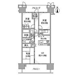 フォレシアムコンフォートタワー[18階]の間取り