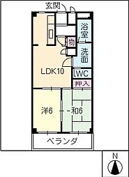 レジデンスイワタ[4階]の間取り