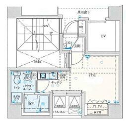 バージュアル横濱鶴見II[5階]の間取り